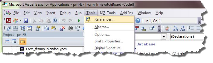 Access-Diva Fixing Broken or MISSING References